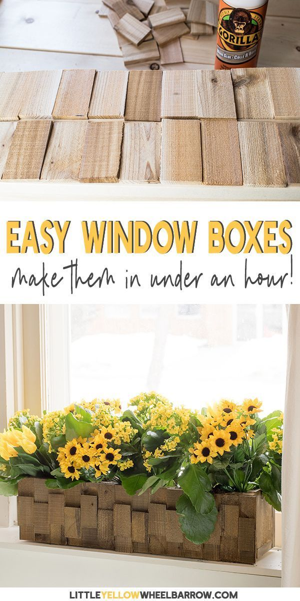 How to build a pretty wooden planter quick and cheap!    An easy DIY wood projec...