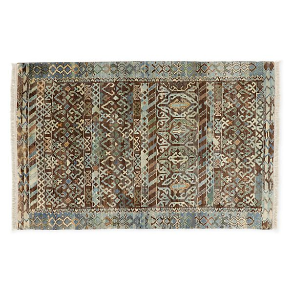 Timuri Hand-knotted Wool Rugs - Modern Patterned Rugs - Modern Entryway Furnitur...