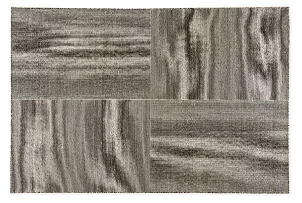 Traverse 9'x12' Rug in Ivory/Black - Patterned - Rugs - Room & Board
