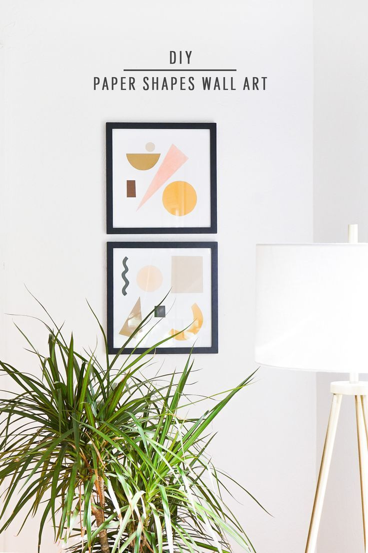 DIY Paper Shapes Wall Art