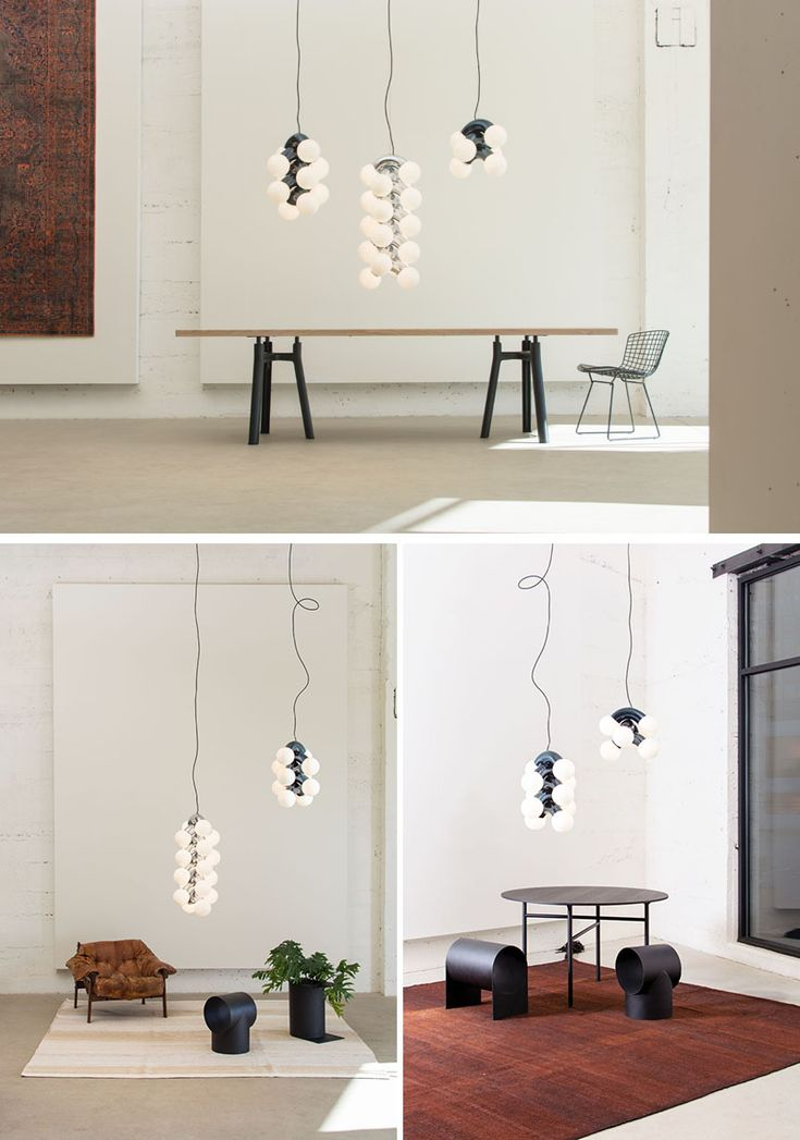 Designer Caine Heintzman has created VINE, a sculptural and vertical pendant lig...