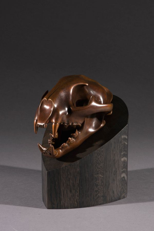 #Bronze #sculpture by #sculptor Simon Gudgeon titled: 'Cougar (Bronze Wild Cat T...