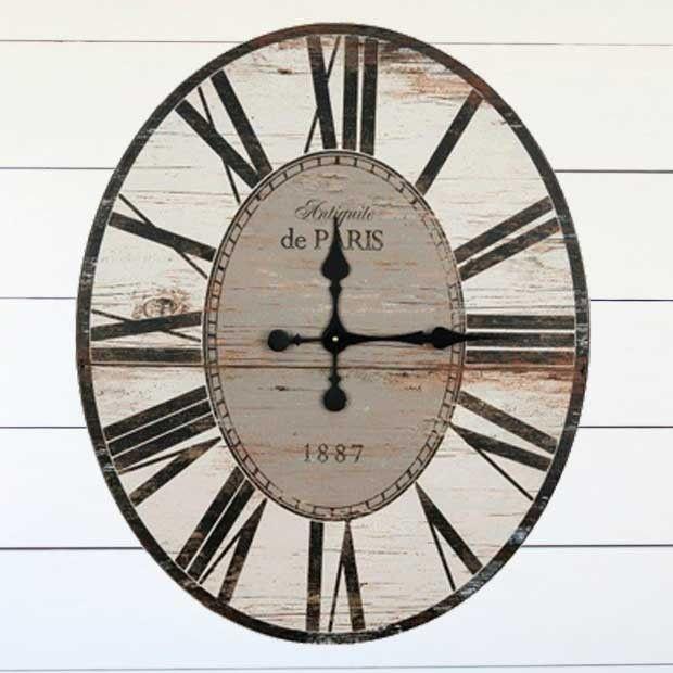 Distressed Oval Wall Clock #wallclock #clock