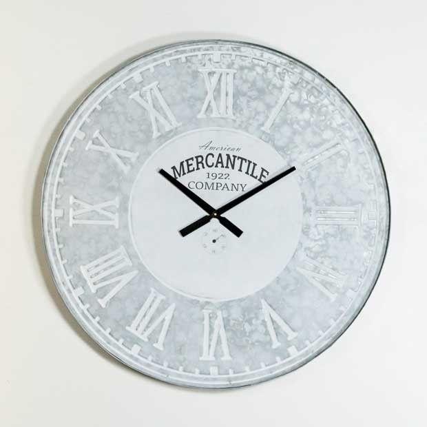 Round Galvanized Wall Clock #wallclock