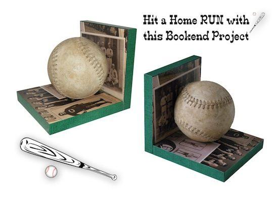 Make baseball bookends and hit a home run