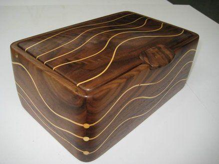 A Walnut and Huon Pine box