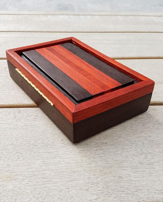 A very special keepsake box made from premium woods and hardware- wenge and padu...