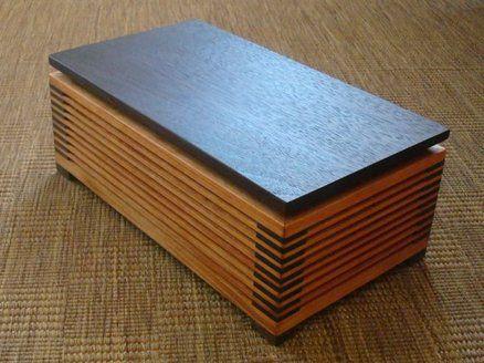 CHERRY WALNUT SPLINED MITRE FINGER JOINT BOX