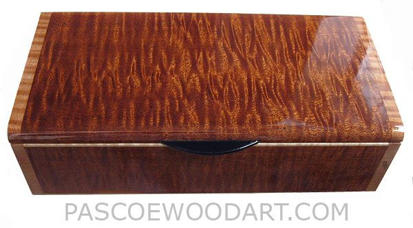 Handcrafted Wood Keepsake Box - Decorative Wood Box - Sapele ...