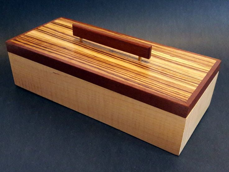 Jewelry & Keepsake Box - Curly Maple, Zebrawood, Makore  etsy.me/2FRXRU8 #jewelr...