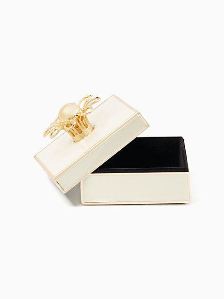 Kate Spade Keaton Jewelry Box, Cream