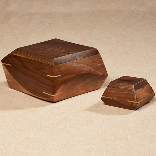 Woodsculpt Hand Carved Walnut Wood Cremation Urn
