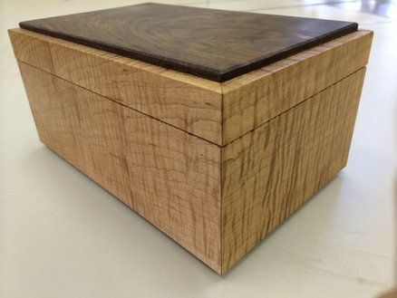 Tiger Maple and Crotch Walnut Box