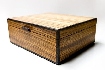 Zebrawood and Wenge Keepsake box