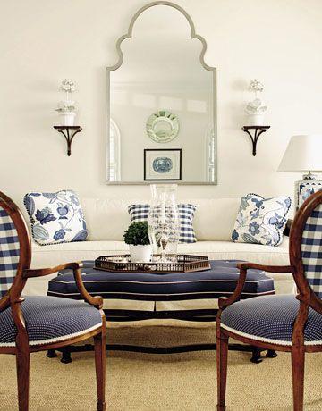 I like the blue and white fabric.