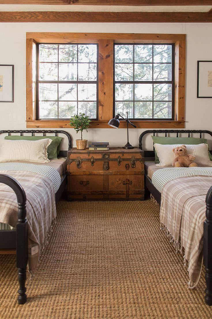 Vintage farmhouse bedroom.