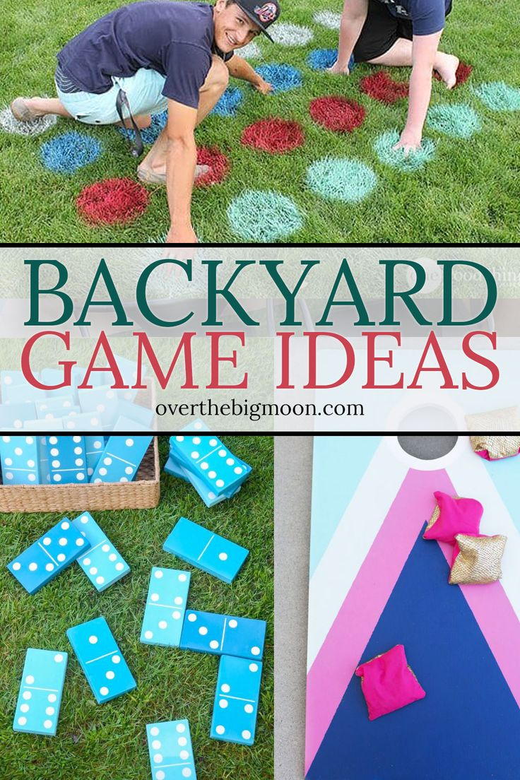 35 Fun Backyard Game Ideas from overthebigmoon.com! #summerfun #backyardgames #p...