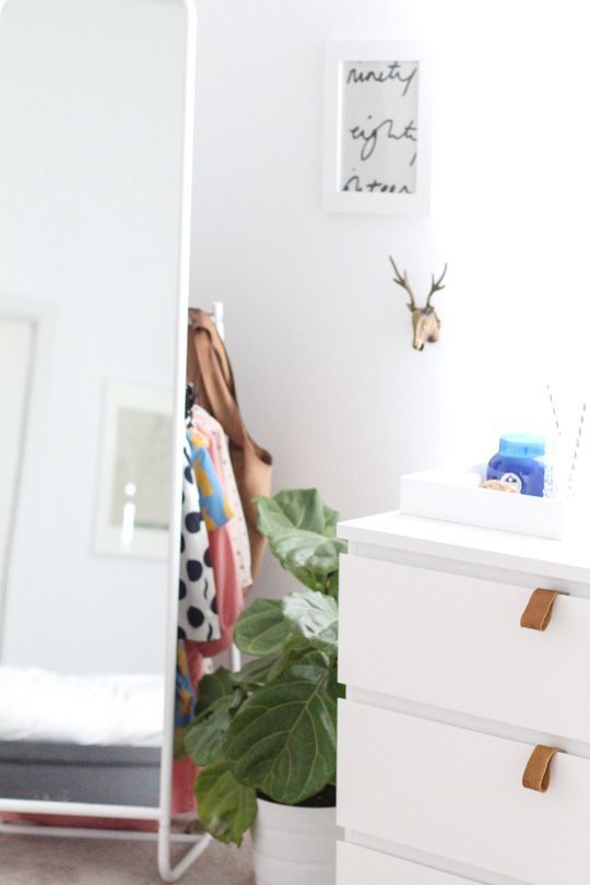 DIY Ikea hack dresser and prepping for guests- Stand Alone Mirror - Sugar & Clot...