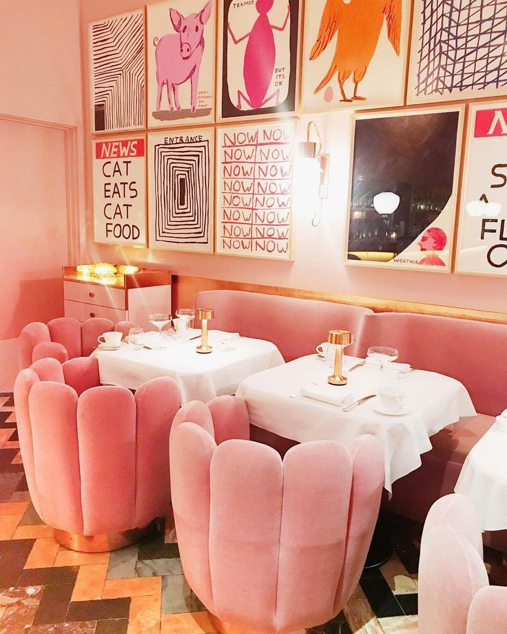 What pink dreams are made of in the interior of Sketch london! princess cruises ...