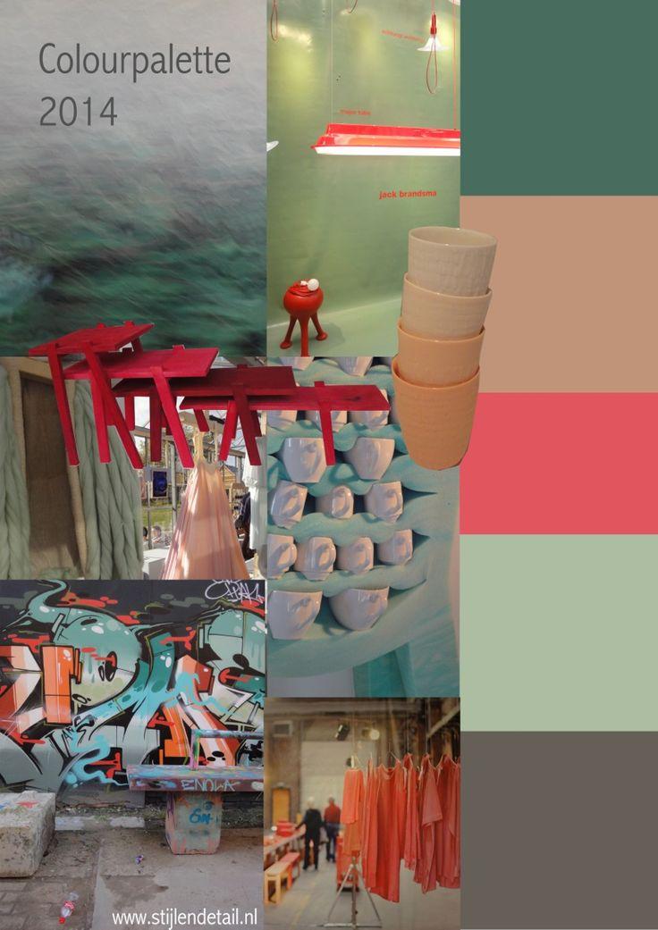 Moodboards en paletten: de kleuren van 2014 by Marie-Gon