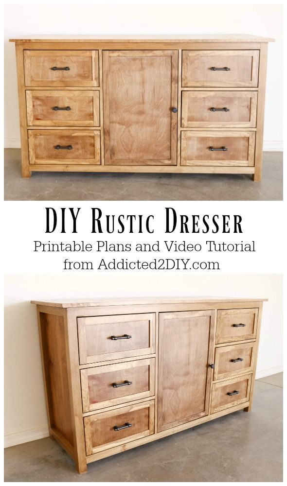 DIY Rustic Dresser w/ Free Building Plans