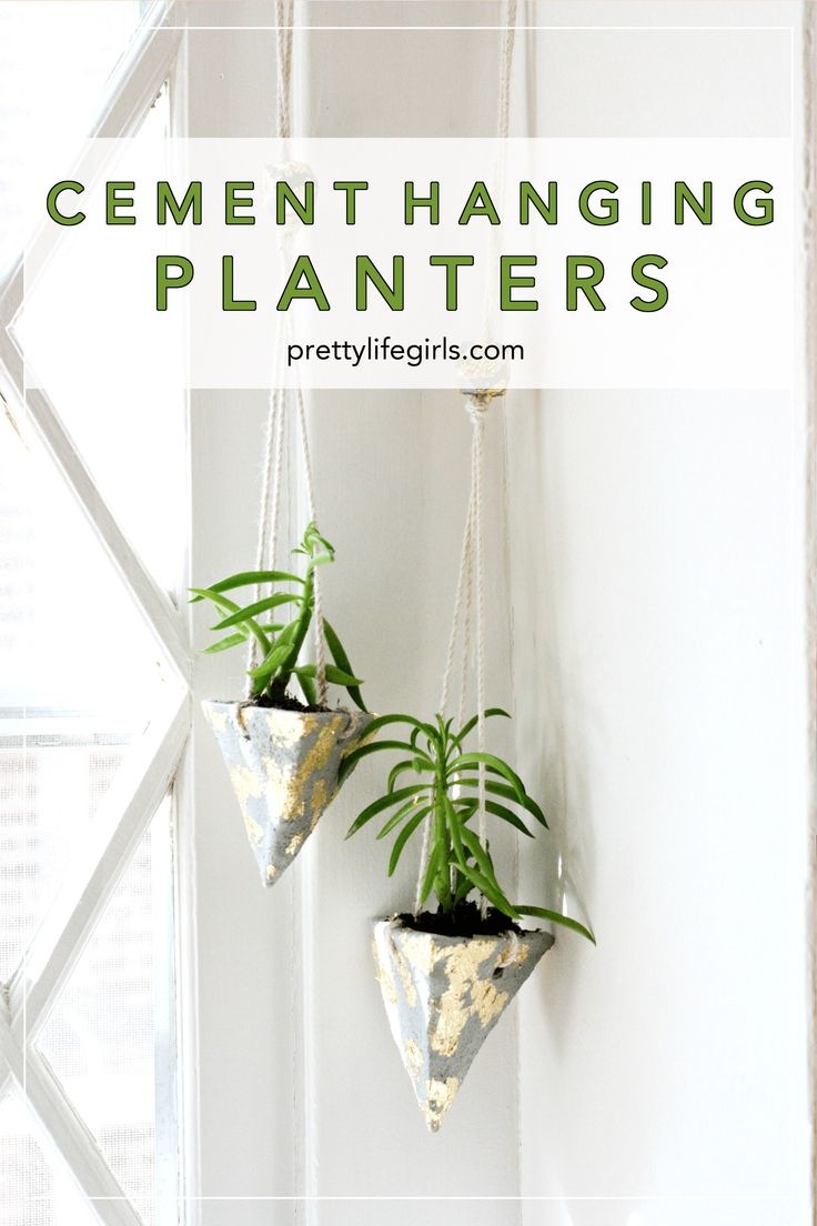 DIY Cement Triangle Hanging Planters