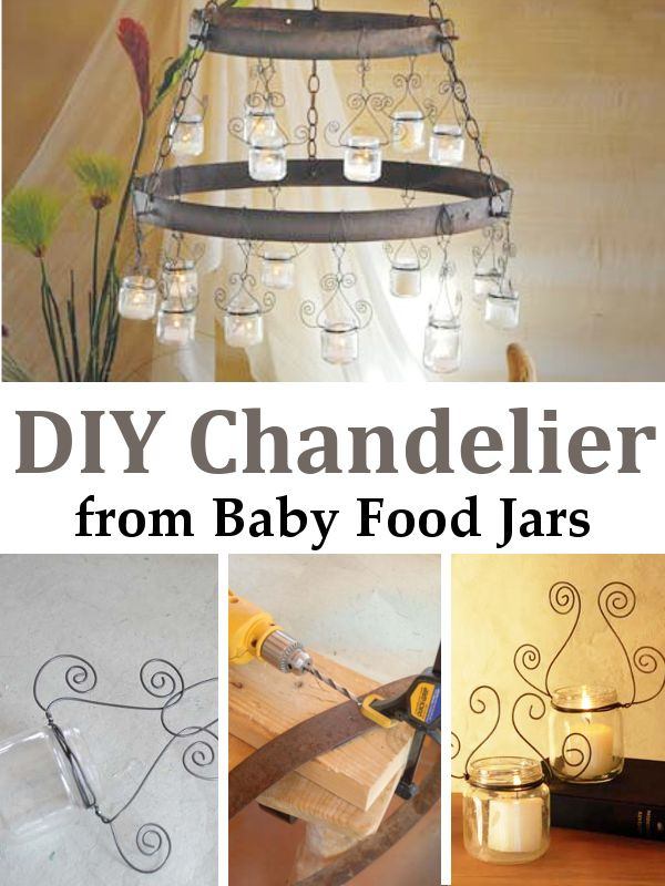 DIY Chandelier From Baby Food Jars
