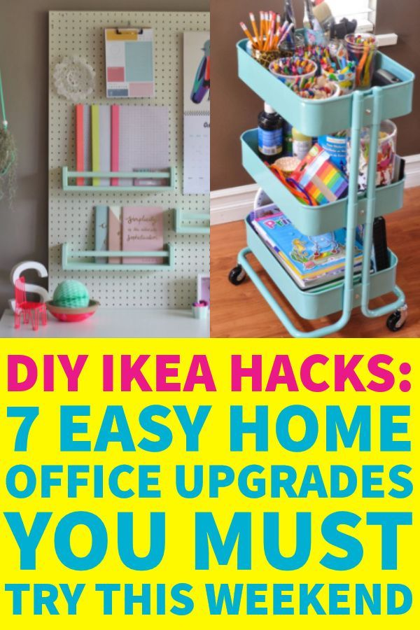 DIY Ikea Hacks: 7 Unique Ways To Organize Your Small Office