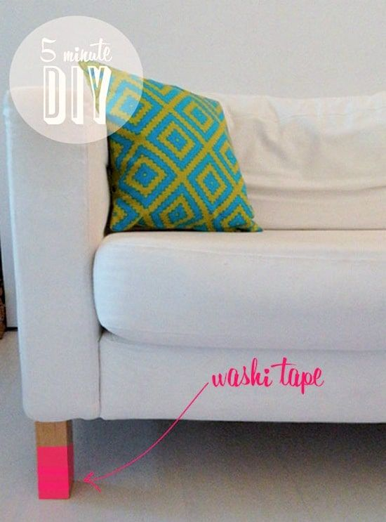 Decorate Your Sofa Legs the Easy Way