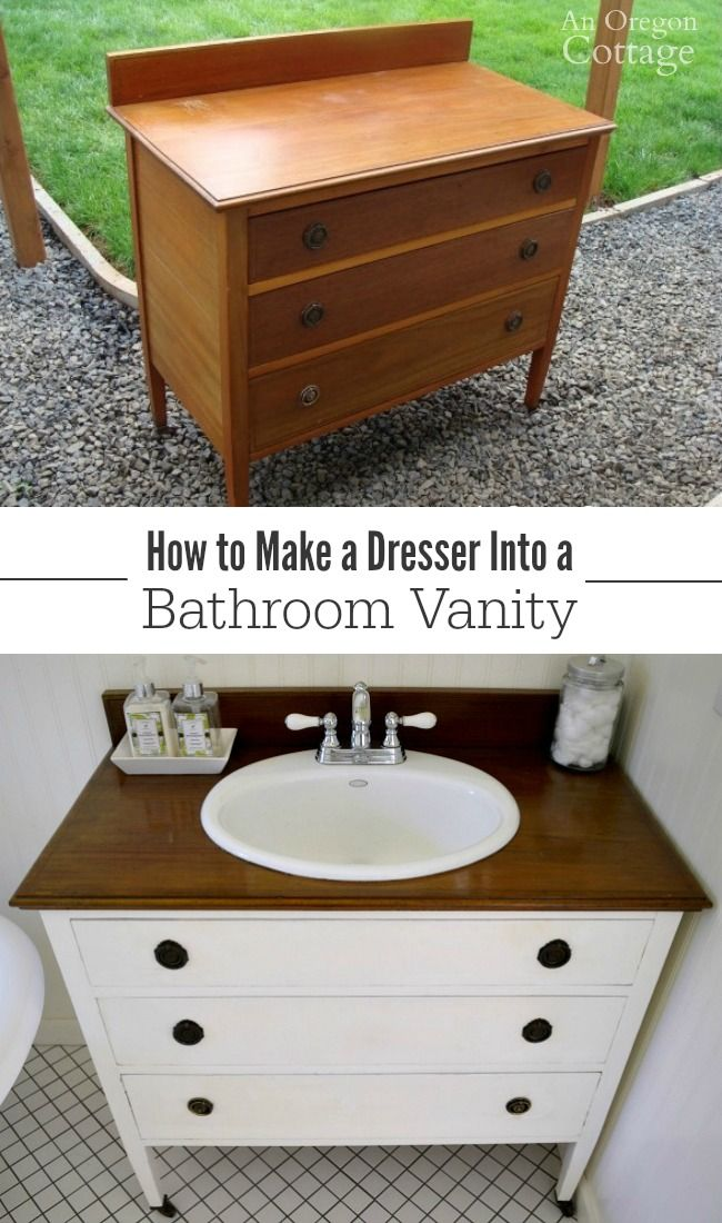 How To Make a Dresser Into a Vanity Tutorial