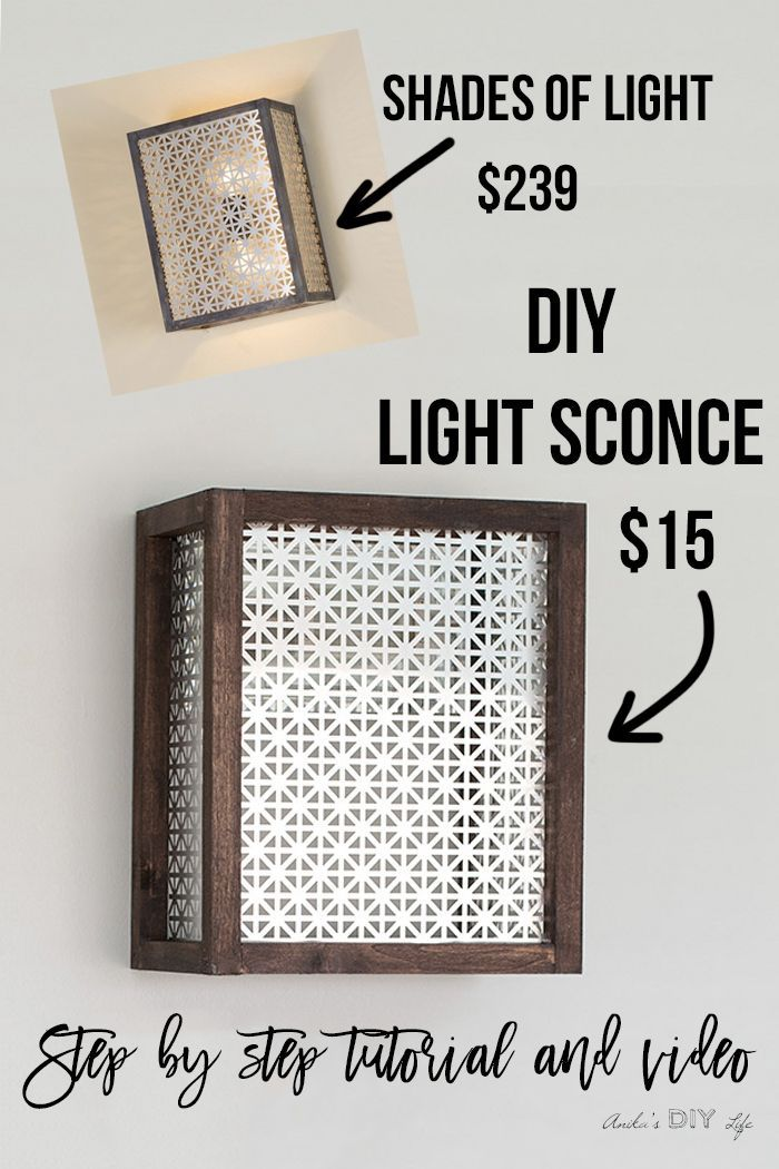 How to make a Wall Sconce - Easy DIY Wood and Metal Wall Sconce