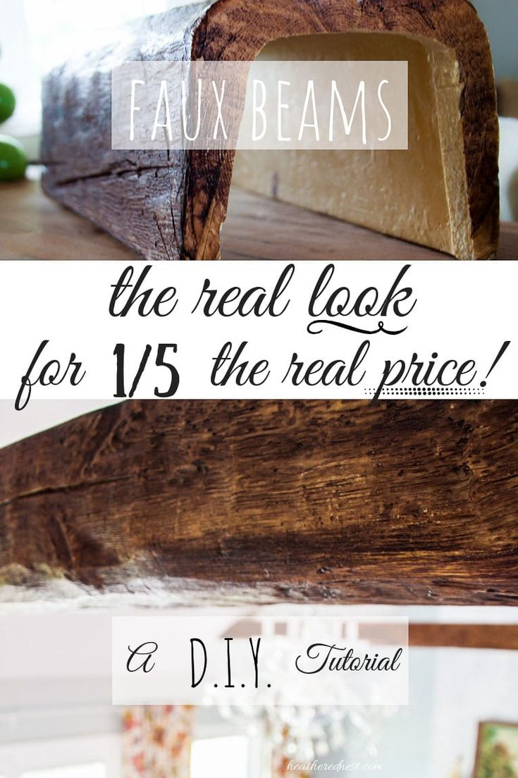 Love wood beams, but not the price tag? Try these.