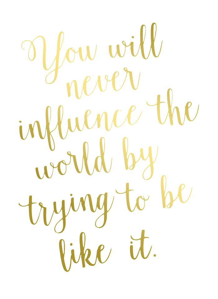 Make a Gorgeous Quote Gold Foil Print