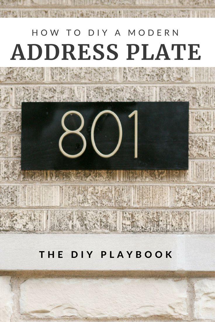 Modern DIY Address Plate Step-by-Step Tutorial