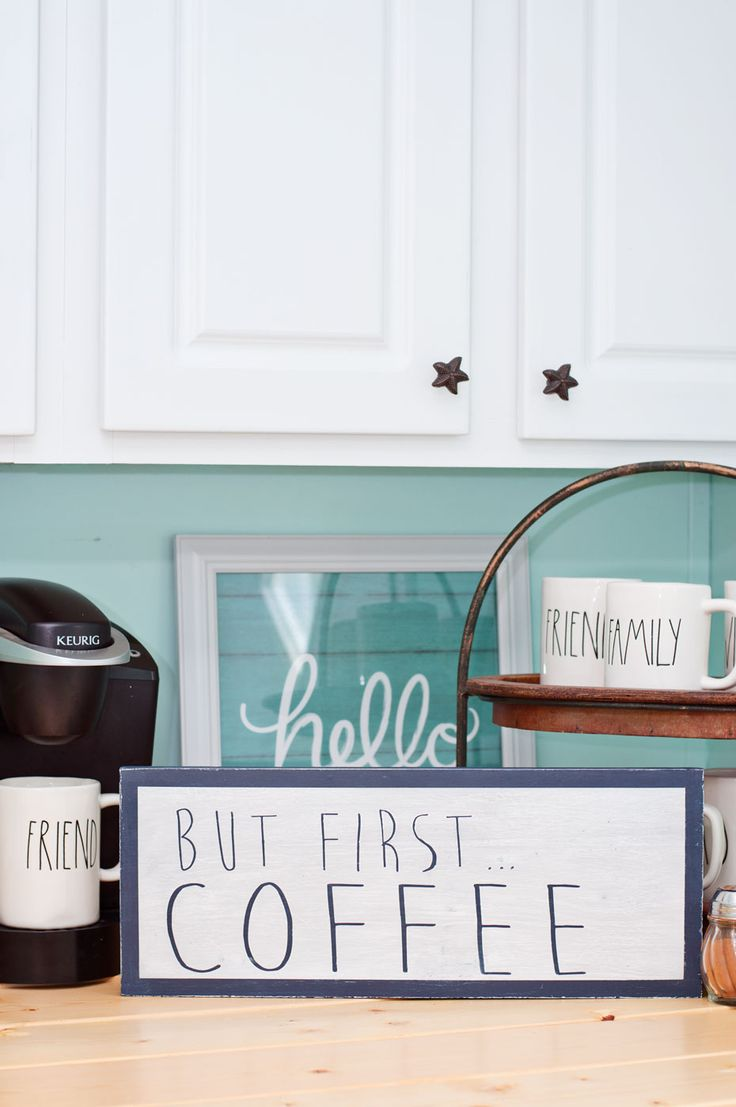 Scrap Wood Projects: DIY Coffee Bar Sign
