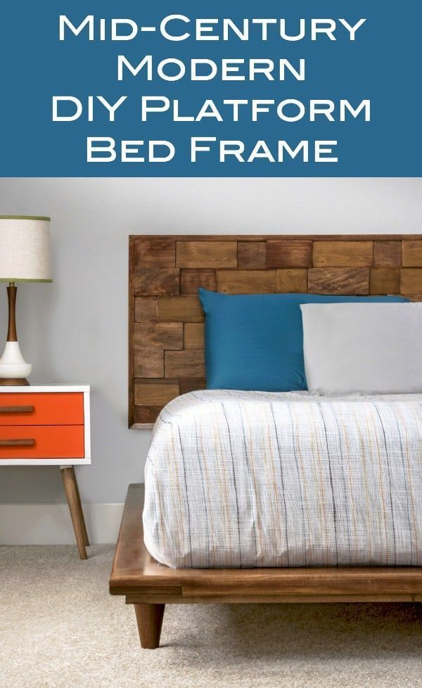 This DIY Platform Bed Frame is Beautiful and Modern
