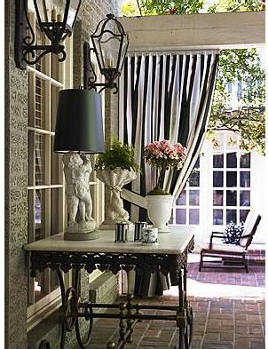 Black & White stripes. Love it on awnings too!