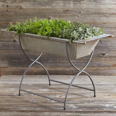 Vintage Galvanized Washtub with Stand #williamssonoma