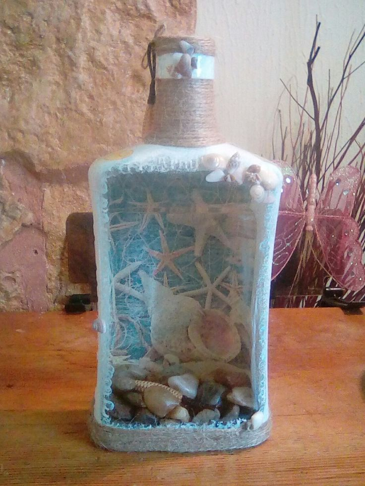 Decorative Bottles Reverse Decoupage Bottle Decor
