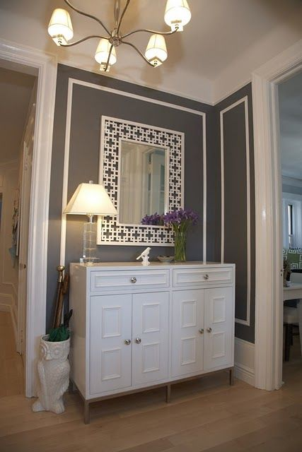 Gray + White Entry Nook