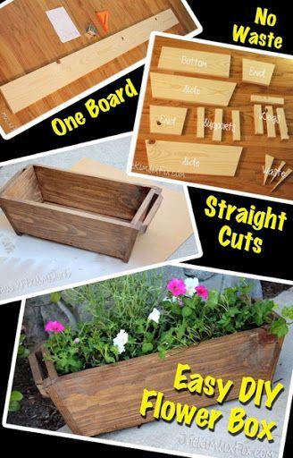 Zero-Scrap Planter Box from a Single Board