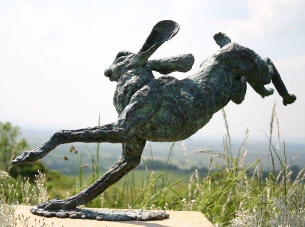 #Bronze #sculpture by #sculptor Jan Sweeney titled: 'Catch Me (Bronze Running Ha...