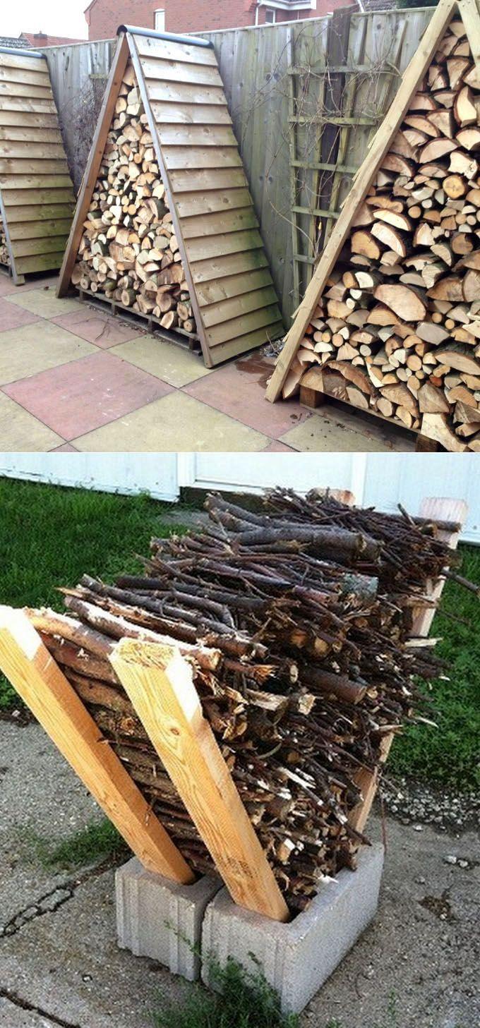 15 Amazing Firewood Rack & Best Storage Ideas!