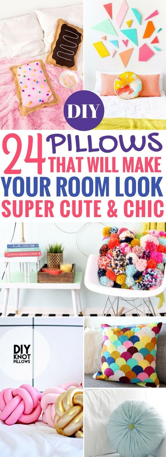 24 Best DIY Pillows That'll Make Your Room Look Better