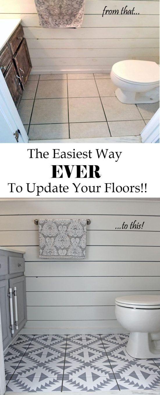 Floor Stickers in The Bathroom