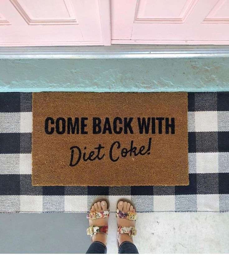 Adorably hilarious front door mat. We get so many compliments on our door mats. ...