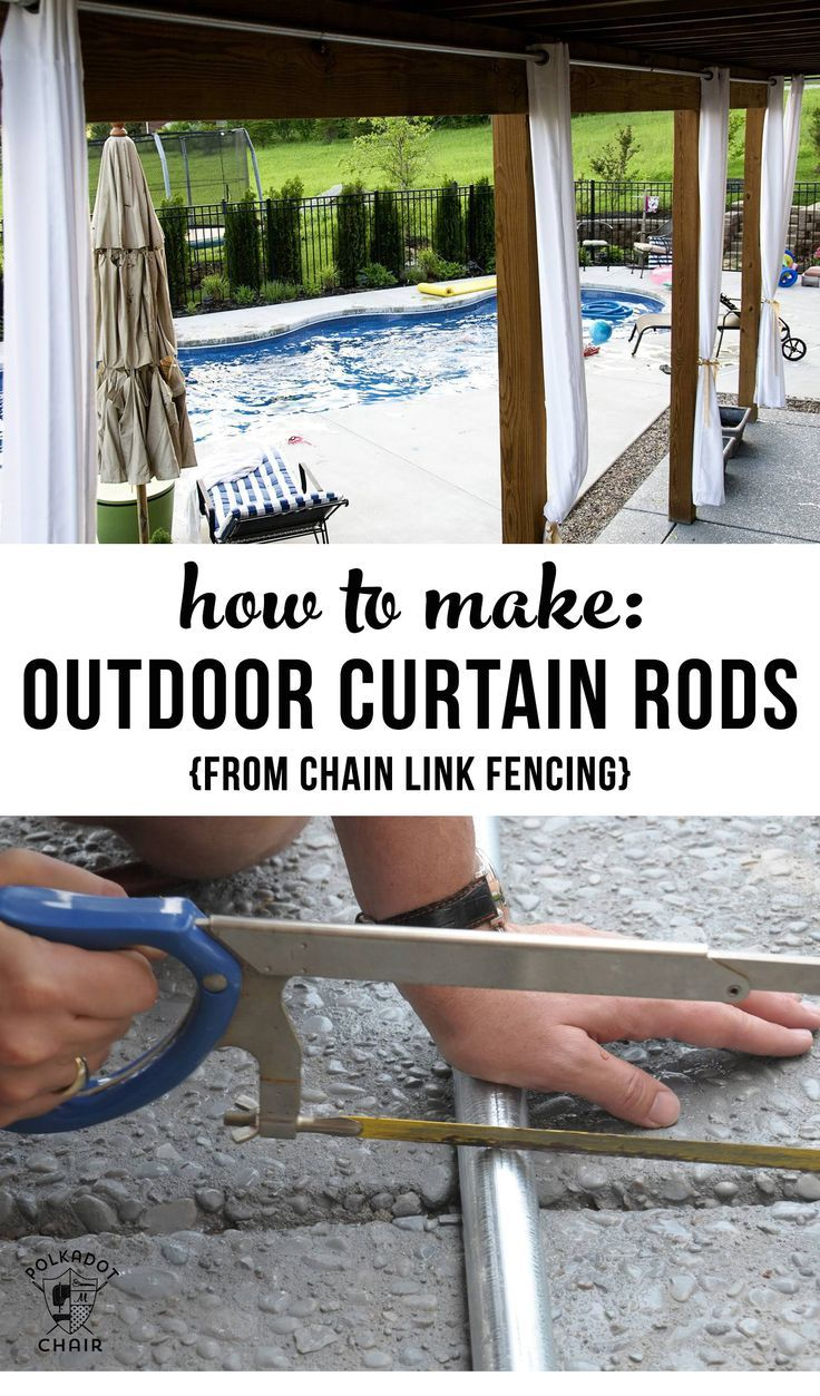How to Hang Outdoor Curtains & DIY Outdoor Curtain Rods