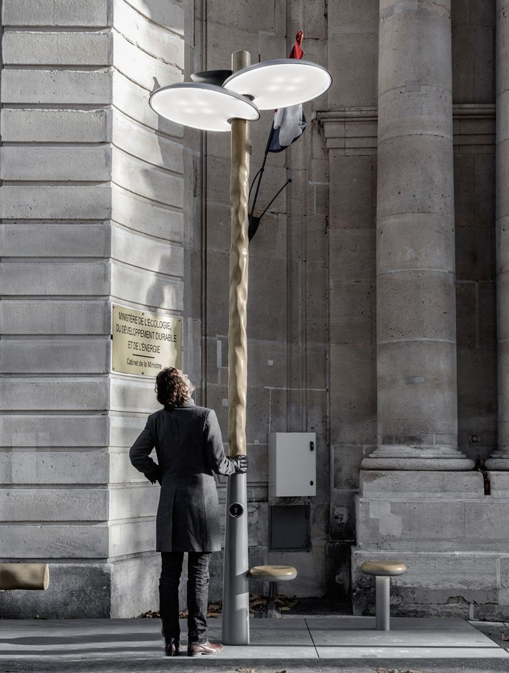 Paris installs solar-powered street lights that resemble trees