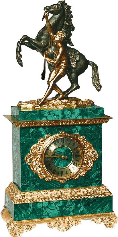 Malachite Clock «Klodt»