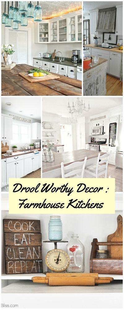 Drool Worthy Decor: Farmhouse Kitchens